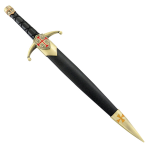 """Defender 14.5"""" Crusader Dagger Gold Knight Cross Stainless Steel Collectible"""
