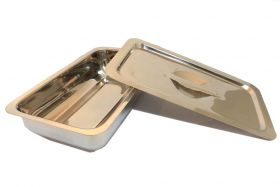 """9""""x5""""x2"""" Surgical Instrument Tray with Lid Holloware Dental Medical"""