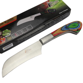 """TheBoneEdge 10"""" Chef Choice Kitchen Knife Packawood Handle Stainless Steel Full Tang"""