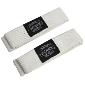 Last Punch White Weight Heavy Lifting Wrist Assist Wraps Exercise Equipment