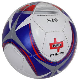 Perrini Soccer Ball Red/Blue/White All Weather Indoor Outdoor Official Size 5
