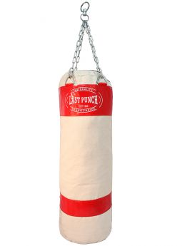 Last Punch Heavy Duty Red Punching Bag with Chains