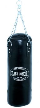 Heavy Duty Black Filled Punching Bag - Medium With Chains