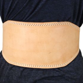 """Last Punch 6"""" Fitness Leather Weight Lifting Belt Padded Good Quality all Sizes"""