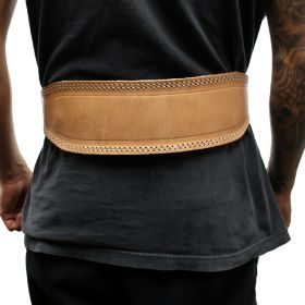 """Last Punch 4"""" Weight Lifting Body Building Belt Gym Fitness Wide Padded Leather all Sizes"""