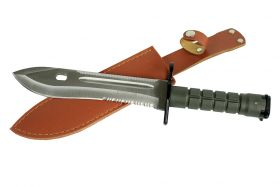 """12.75"""" Defender Xtreme Stainless Steel M9 Bayonet Knife with Sheath Serrated Blade"""
