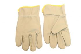 Grey Cowhide Leather Safety Protective Gloves Industrial Work Labor Protection