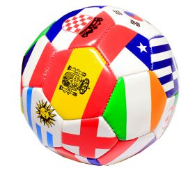 Multi-Flag Practice Soccer Ball Official Size 5