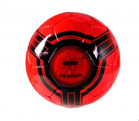 Perrini Futsal Ball Red Black Low Bounce Football Official Size 4