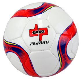 Perrini Match Soccer Ball Training Football Red & Blue Official Size 5