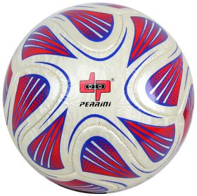 Perrini Match Ball Soccer White Red Blue Football Training Official Size 5