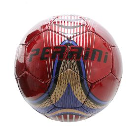 Perrini Match Ball Soccer Blue Red Trim Football Training Official Size 5