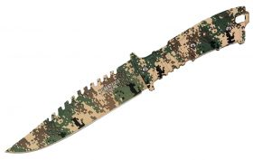 """11"""" Defender-Xtreme Full Tang Hunting Outdoor Knife Camo Steel Blade and Handle"""