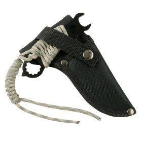"""Hunt-Down 5"""" Stainless Steel Blade Black All Around  Survial Knife with Sheath"""