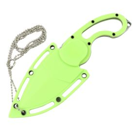 """Defender-Xtreme 7"""" Stainless Steel Full Tang Survival Knife With Sheath - Green"""