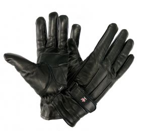 Perrini Black Genuine Cowhide Leather Winter Gloves All Sizes S - XXL