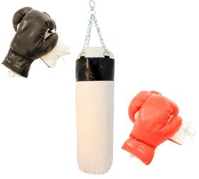 Last Punch Brand New 2 Pairs of Boxing Gloves with Punching Bag
