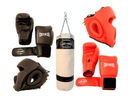 Last Punch Boxing Package New 1 Pair of Headgears 2 Pair Gloves & Punching Bag