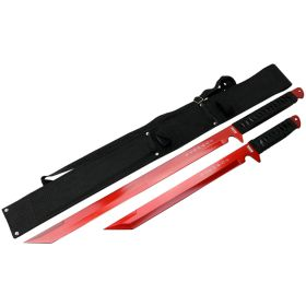 """26"""" / 18"""" Stainless Steel Red Blade Sword with Sheath"""