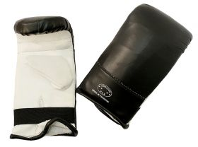 Black and White Punching Boxing Gloves