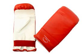 Red and White Punching Boxing Gloves