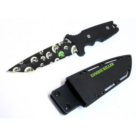 """10"""" Zombie Killer Stainless Steel Hunting Knife With Sheath & Belt Clip"""